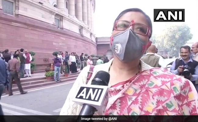 """Rise Above Politics"": TMC Leader Kakoli Ghosh Wears Anti-Pollution Mask To Parliament"