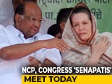 Video : Eyes On Maharashtra, NCP's Sharad Pawar, Sonia Gandhi To Meet Today
