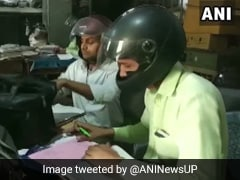 Why Employees Of This UP Government Office Wear Helmets To Work