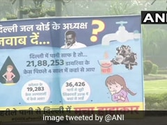 Posters Questioning Arvind Kejriwal Over Water Quality Appear In Delhi