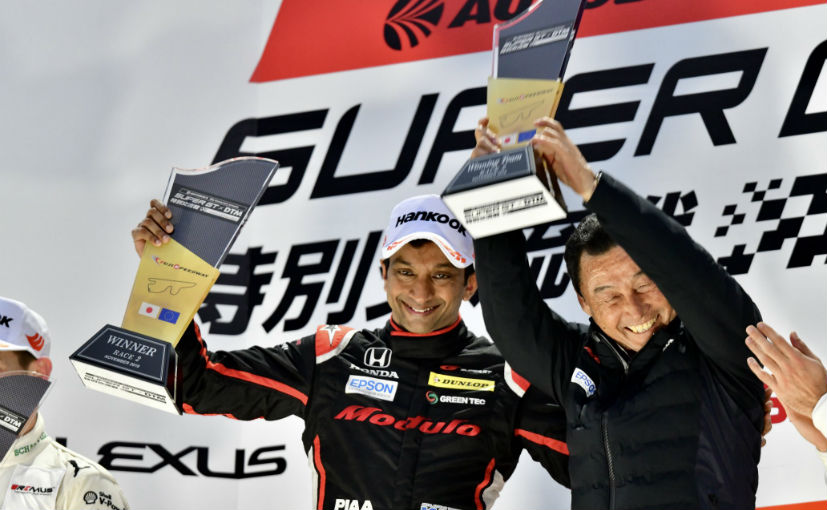 This is Narain Karthikeyan's first win since the 2013 Brno AutoGP