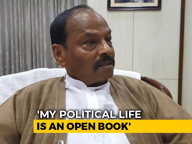 "Video : ""Raghubar <i>Be-Daag</i>"": Jharkhand Chief Minister Refutes Adversary's Claim"