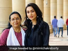 MP Mimi Chakraborty's Parliament Pic With Mother Earns Praise On Twitter