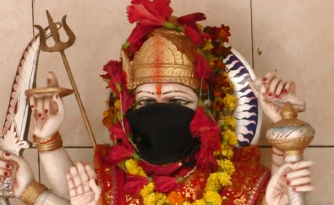 Gods In Varanasi Temple Get Anti-Pollution Masks To Avoid Toxic Air