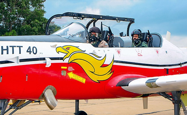 Air Force Chief Goes For Sortie On HAL's Trainer Aircraft