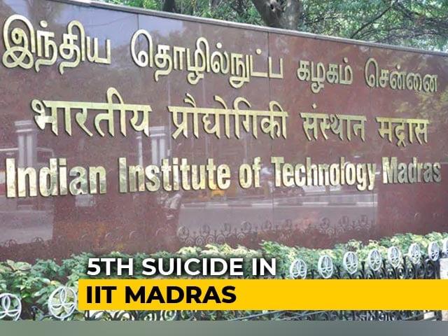 Video : IIT Madras Student Found Dead In Her Hostel Room, Police Suspect Suicide