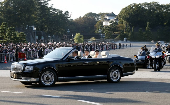 Japan Cheers New Emperor Naruhito In 'Once In A Lifetime' Open-Top Car Parade
