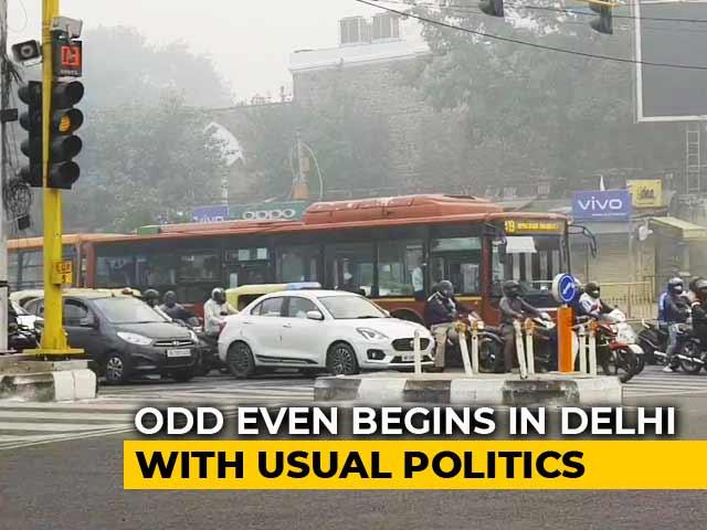 Video : Odd-Even Rule Kicks Off Today; 15 Lakh Cars Off Delhi Roads