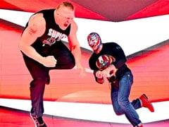 WWE में ब्रॉक लेसनर की हुई बल्ले से पिटाई, रे मिस्टीरियो ने भगा-भगाकर मारा, देखें VIDEO