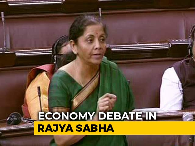 "Video : ""Growth Down, But There Won't Be Any Recession,"" Says Nirmala Sitharaman"