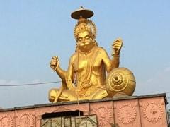 """World's Tallest"" Octa-Metal Statue Of Lord Hanuman Comes Up In Madhya Pradesh"