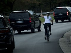 Cyclist Who Flipped Off Trump Wins US Local Election, Tweets Viral Photo