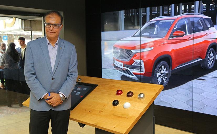 Rajeev Chaba, President & MD, MG Motor India  at the MG's first digital studio in Bengaluru.