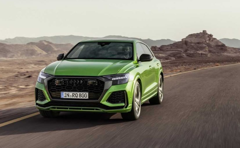 The Audi RS Q8 draws power from a 4.0-litre bi-turbo V8, making 600 bhp and 800 Nm