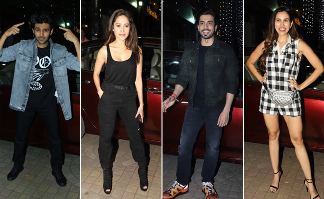 Pyaar Ka Punchnama Reunion At Ujda Chaman Screening: Kartik Aaryan, Nushrat Bharucha, Sonnalli Seygall Cheer For Sunny Singh