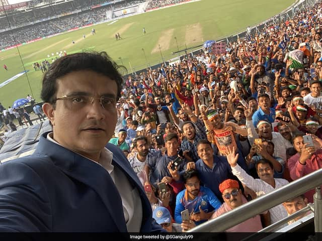 """Day-Night Test: Sourav Ganguly Captures """"Tremendous Atmosphere At Eden For The Pink Test"""""""