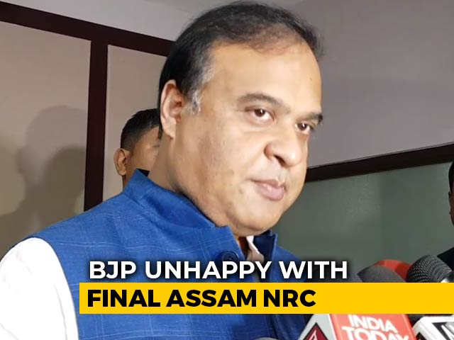 "Video : ""Want Faulty NRC In Assam Scrapped"": Himanta Sarma After Amit Shah's Plan"