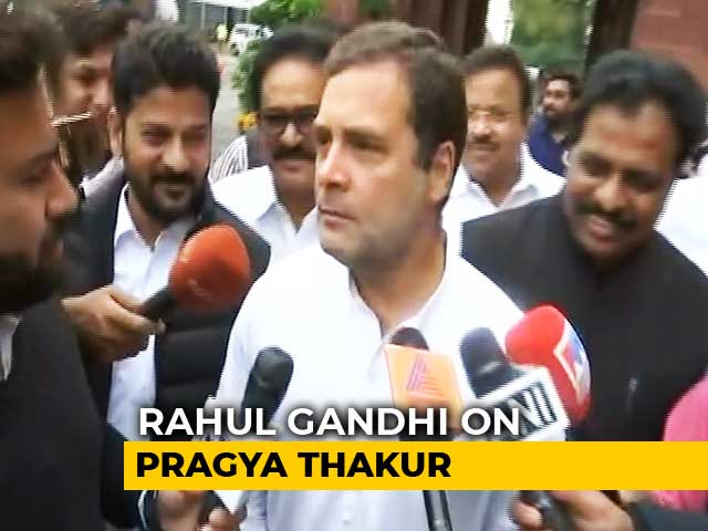 "Video : ""Made My Stand Clear"": Rahul Gandhi On ""Terrorist"" Barb At Pragya Thakur"