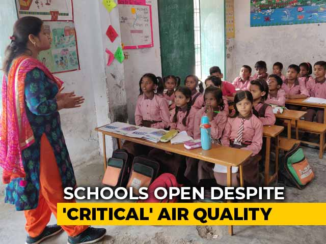 Video : Cough, Cold And Medicines: How Lucknow Schools Are Coping With Pollution