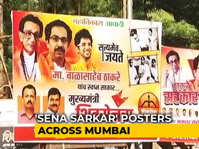 Video : Bal Thackeray-Indira Gandhi Posters In Mumbai As Sena, Congress Ally