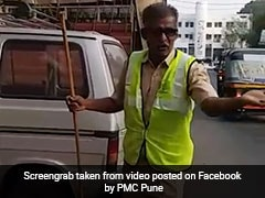 Watch: Pune's Sanitation Worker Blends Singing And Cleaning To Create Awareness