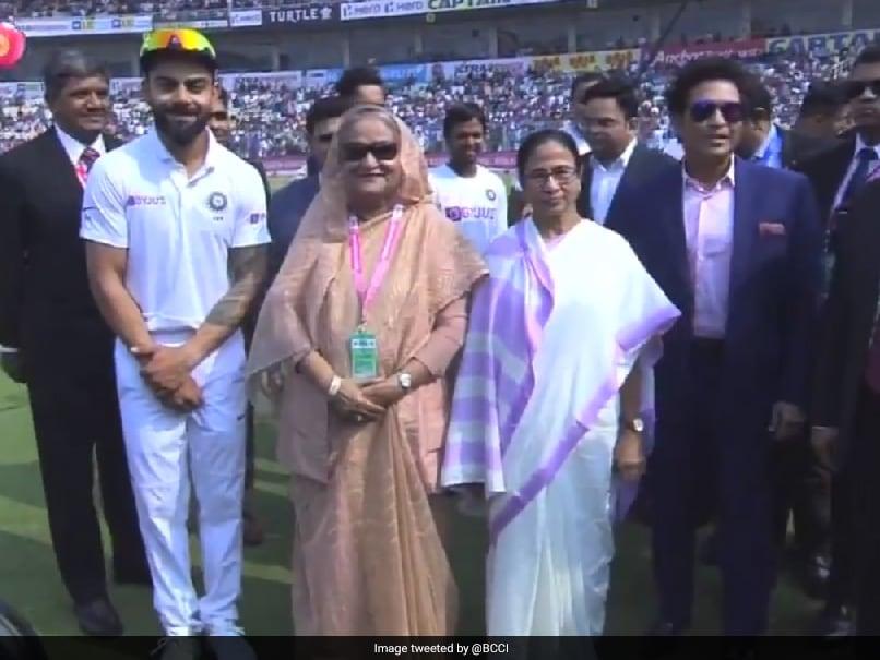 Ind Vs Ban Pink Ball Test Virat Kohli And Team India Met Bangladesh PM Sheikh Hasina