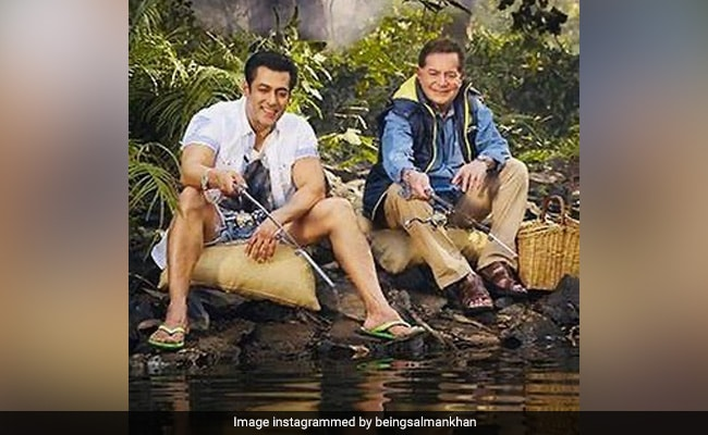 Salman Khan Fishes Out Gold On Dad Salim Khan's Birthday. See Throwback Pic
