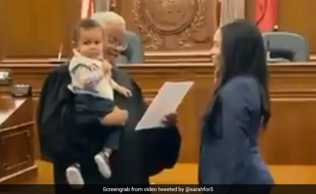 Judge Holds Law Student's Baby So He Could Be Part Of Mom's Swearing-In