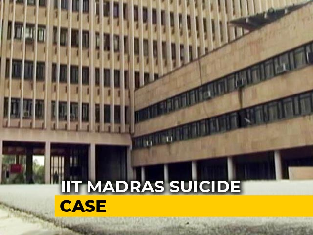 Video : IIT Madras Student's Suicide Case Moved To Crime Branch Amid Allegations