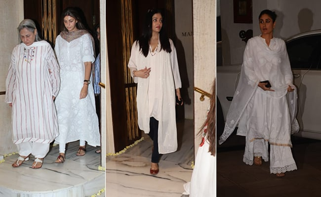 The Bachchans, The Kapoors And Other Celebs Visit Manish Malhotra After His Father's Death