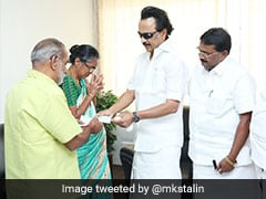 MK Stalin Meets Girl Whose Leg Was Amputated After Flagpole Accident