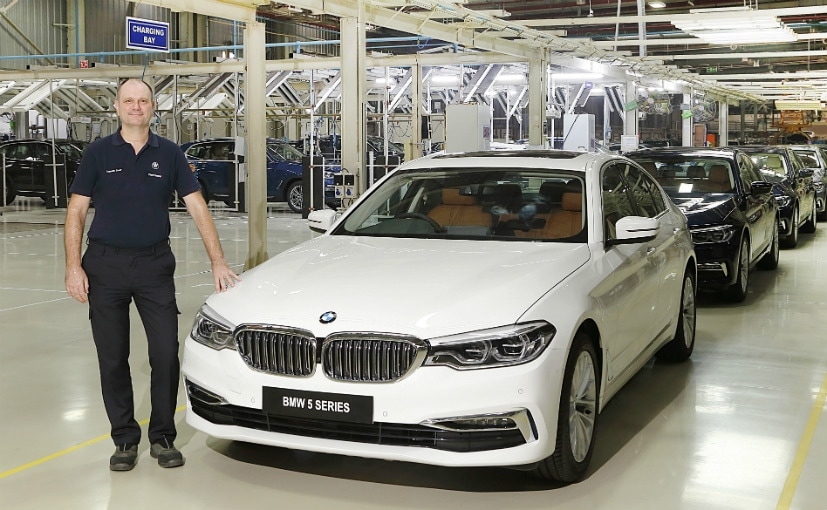 Thomas Dose, MD, BMW Plant Chennai with the BS6 diesel BMW 5 Series