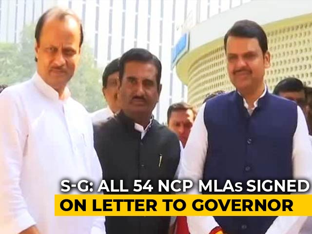 Video : Ajit Pawar's Letter To BJP Has Signatures Of 54 MLAs: Centre To Supreme Court