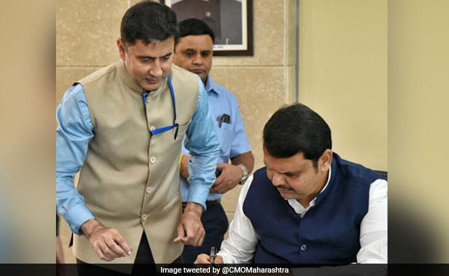 Devendra Fadnavis's First Signature Of New Term Was On This Cheque