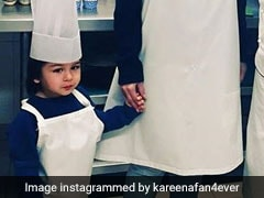 Taimur Ali Khan Dons Chef Cap, Makes Ice-Cream For Kareena Kapoor Khan in Chandigarh