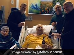 Viral Pic Captures Grandfather's Last Beer With Sons In Hospital Bed