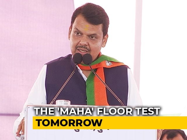 Video : BJP Orders MLAs' Meeting At 9 pm Ahead Of Maharashtra Floor Test Tomorrow
