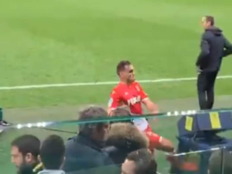 Watch: Monaco Player Kicks VAR Monitor After Getting Red Card, Fans Lend Support