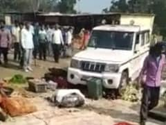 Video Shows UP Official's SUV Crushing Farmer's Vegetables At Market