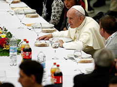 Guess Who's Coming To Lunch? Pope Hosts Meal For 1,500 Homeless People