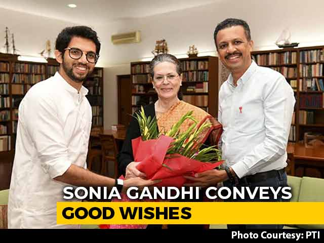 Video: Aaditya Thackeray Visits Delhi To Invite Sonia Gandhi For Father Uddhav's Oath
