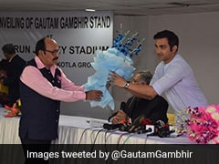Gautam Gambhir Questions Rajat Sharma For Delay In Unveiling Stand Named After Him