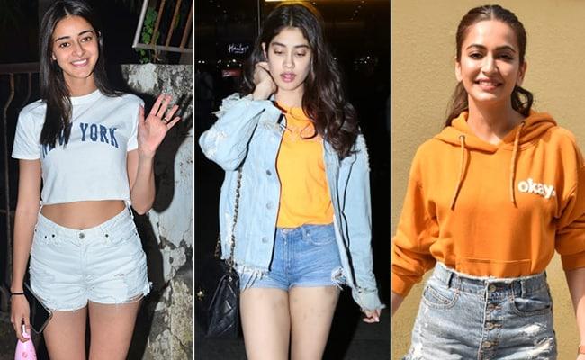 Ananya Panday, Janhvi Kapoor And Kriti Kharbanda Are Making Shorts A Casual Fashion Favourite