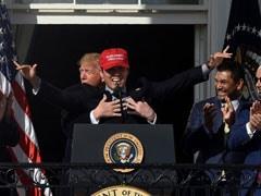 Trump's Awkward Hug With Baseball Champion At White House