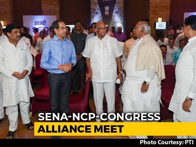 Video : Sena, NCP, Congress Meet After Fadnavis, Ajit Pawar Quit