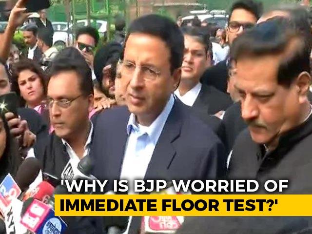 "Video : ""Maharashtra Government Illegitimate, Will Prove In Floor Test"": Congress"
