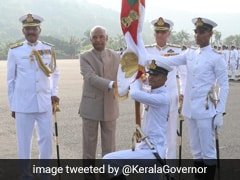 President's Colour Awarded To Indian Naval Academy In Kerala