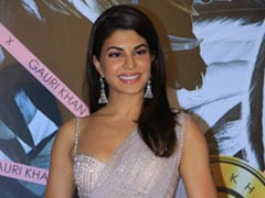 All That Sparkles Is Jacqueline Fernandez In A Glamorous Net <i>Saree</i>