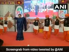 "Watch: Holding Swords, Smriti Irani Performs ""<i>Talwar Raas</i>"" In Gujarat"
