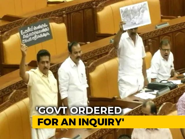 Video : After Clashes, Kerala Opposition Takes Blood-Stained Vest Inside Assembly